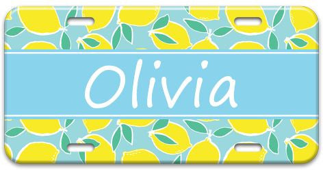 Personalized Lemon Fresh License Plate