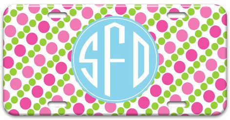 Personalized Pearl String License Plate
