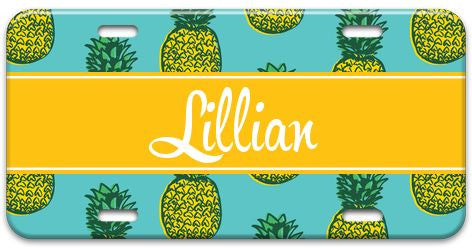 Personalized Pineapple License Plate