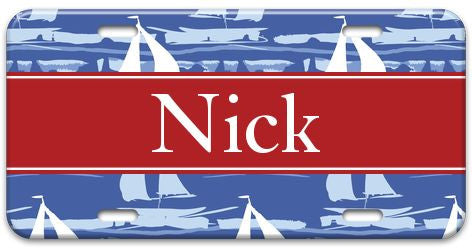 Personalized Sail Away License Plate