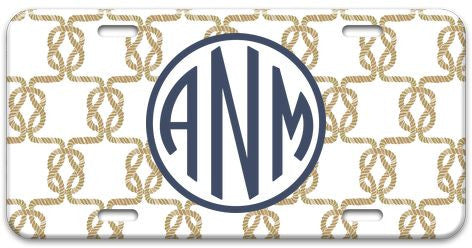 Personalized Sailor's Knot License Plate