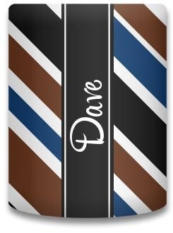 Personalized Tie Stripe Koozie