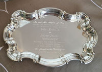 Engraved Pewter Wedding Invitation Tray