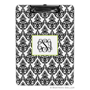 Madison Damask White with Black Clipboard