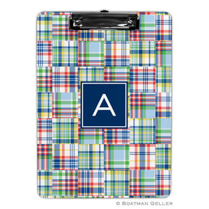 Madras Patch Blue Clipboard
