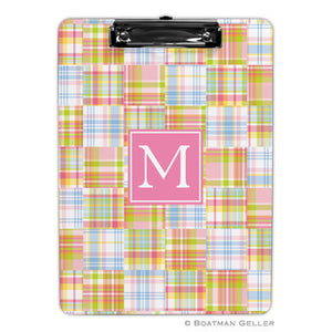 Madras Patch Pink Clipboard