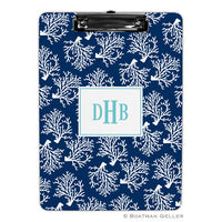 Coral Repeat Navy Clipboard