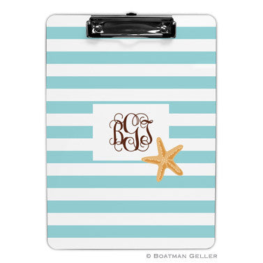 Stripe Starfish Clipboard