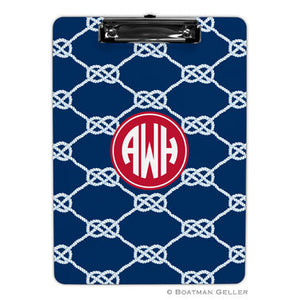Nautical Knot Navy Clipboard