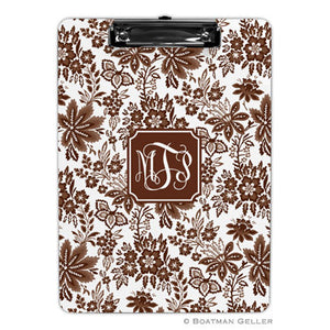 Classic Floral Brown Clipboard