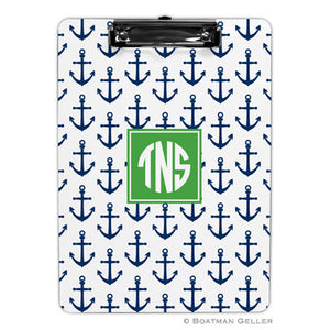Anchors Navy Clipboard