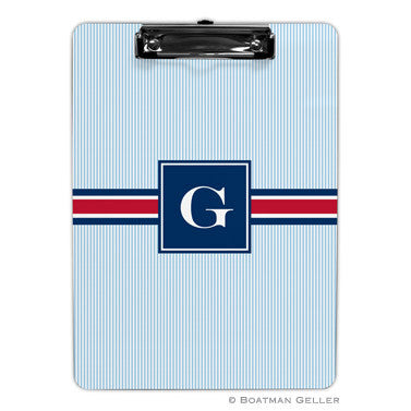 Seersucker Band Red & Navy Clipboard