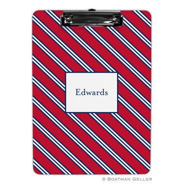 Repp Tie Red & Navy Clipboard