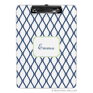 Bamboo Navy & Green Clipboard