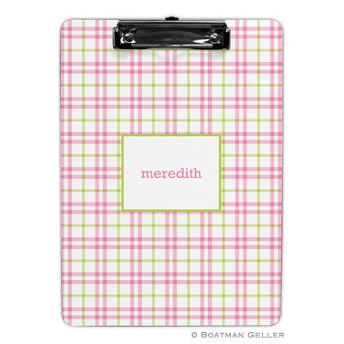 Miller Check Pink & Green Clipboard
