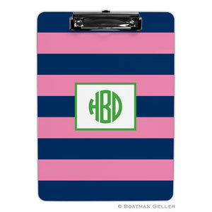 Rugby Navy & Pink Clipboard