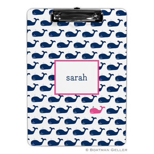 Whale Repeat Navy Clipboard