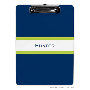 Stripe Navy & Lime Clipboard