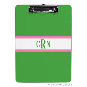 Stripe Kelly & Bubblegum Clipboard