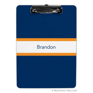 Stripe Navy & Tangerine Clipboard