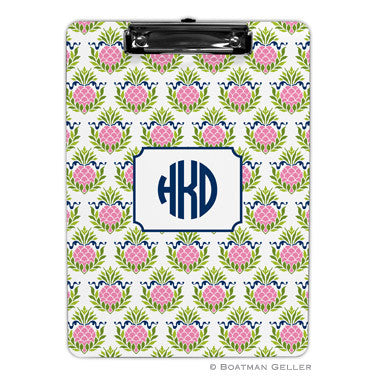 Pineapple Repeat Pink Clipboard