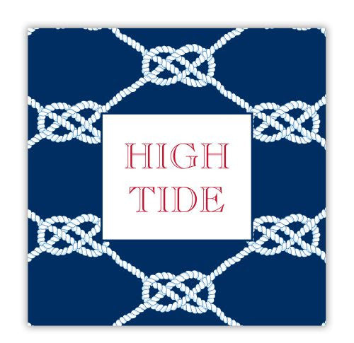 Nautical Knot Navy Coaster