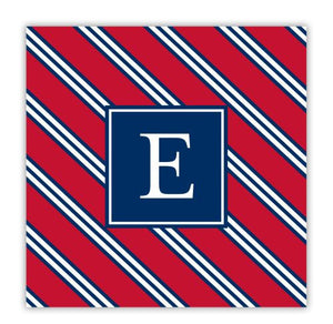 Repp Tie Red and Navy Coaster