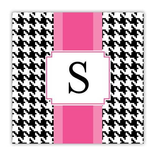 Alex Houndstooth Black Coaster