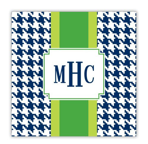 Alex Houndstooth Navy Coaster
