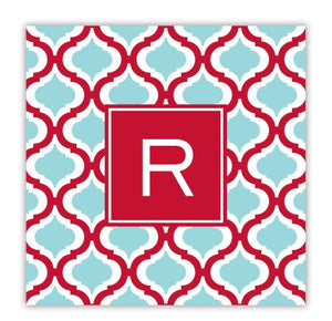 Kate Red and Teal Coaster