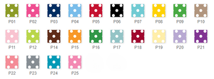 Polka Dot Bag Tags Set (25 Colors)