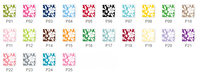 Petite Flower Bag Tags Set (25 Colors)