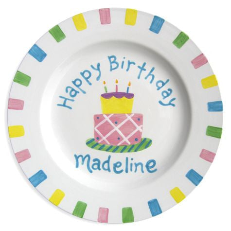 Personalized Birthday Cake Plate (Girl)