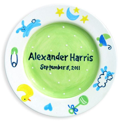 Personalized Baby Charms Plate (Boy)