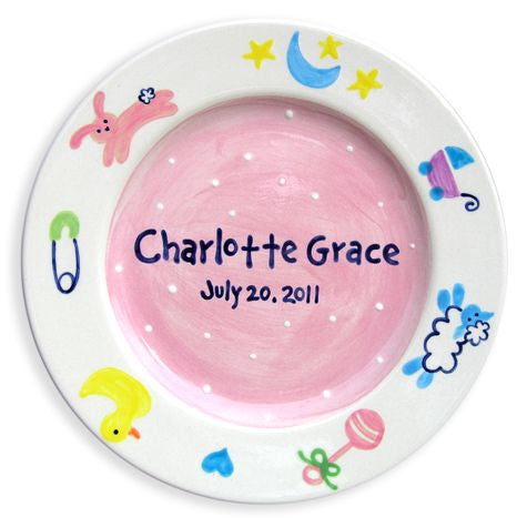 Personalized Baby Charms Plate (Girl)