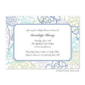 Chelsea Floral Blue Flat Notecard