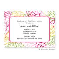 Chelsea Floral Pink Flat Notecard