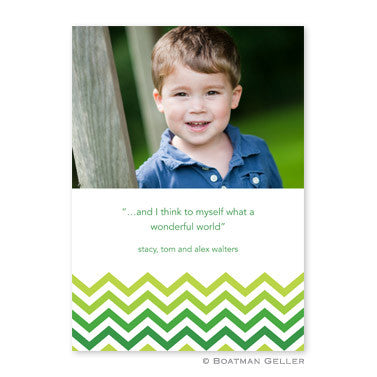 Chevron Ombre Green Photocard