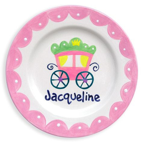Personalized Princess Coach Plate