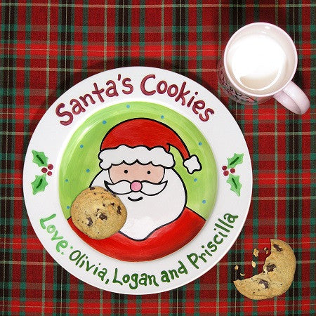 Personalized Santa's Cookies & Milk Set
