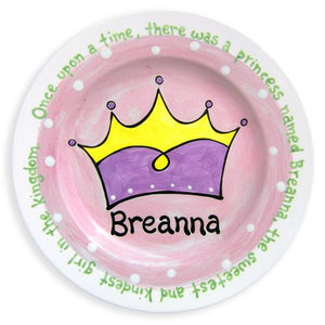 Personalized Princess Crown Plate