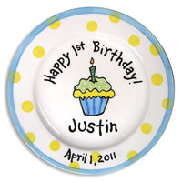 Personalized Boy Birthday Cupcake Plate