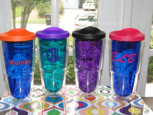 Monogrammed Colorful 'Big T' - 24 oz Tervis Tumbler