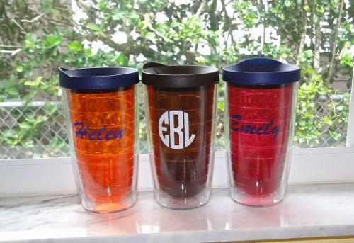 Monogrammed Colorful Tervis Tumblers - 16 oz