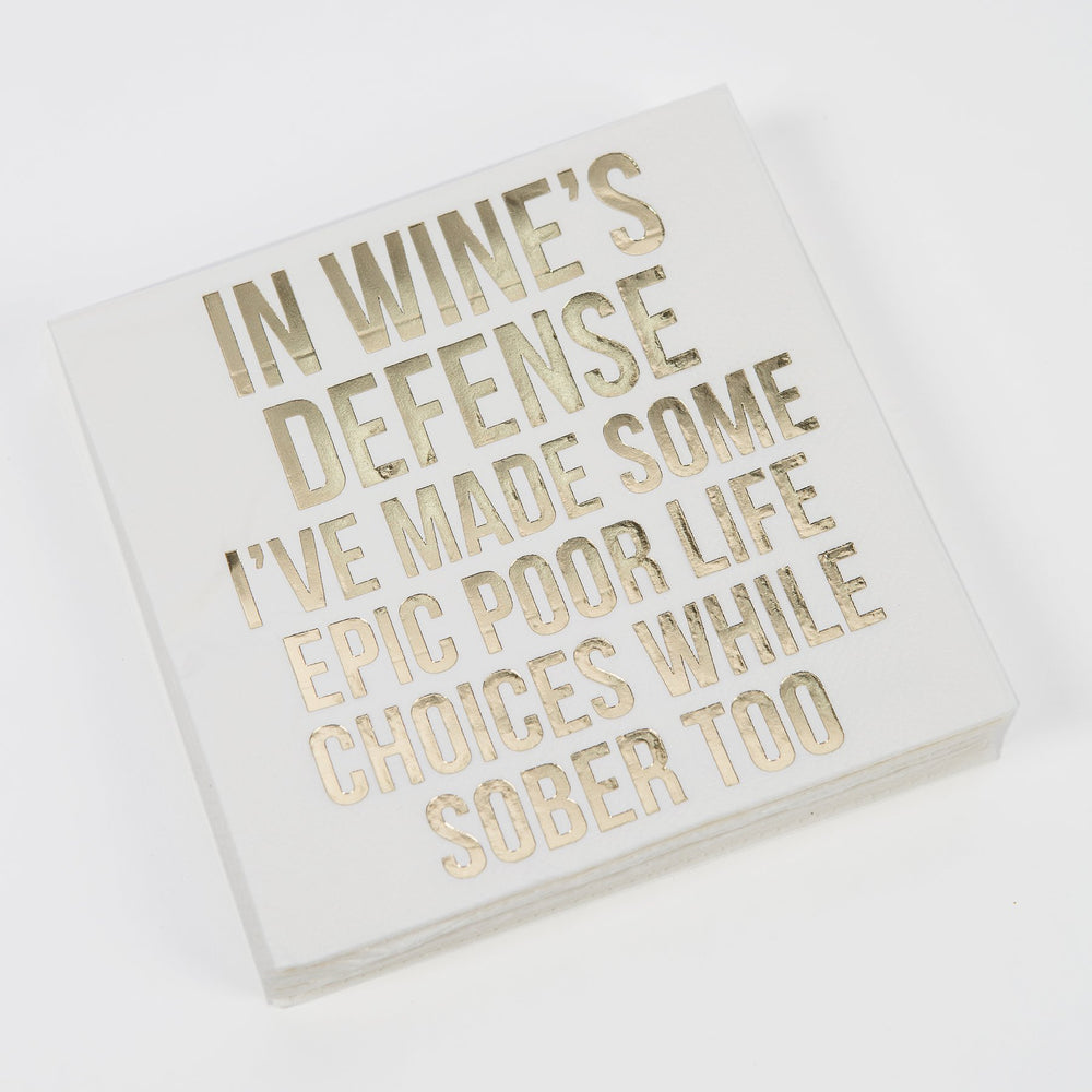 In Wine's Defense Cocktail Napkins