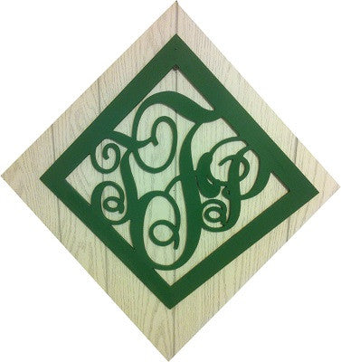 Diamond Monogrammed Door Hanger