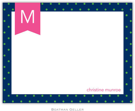 Dottie Kelly & Navy Flat Notecard