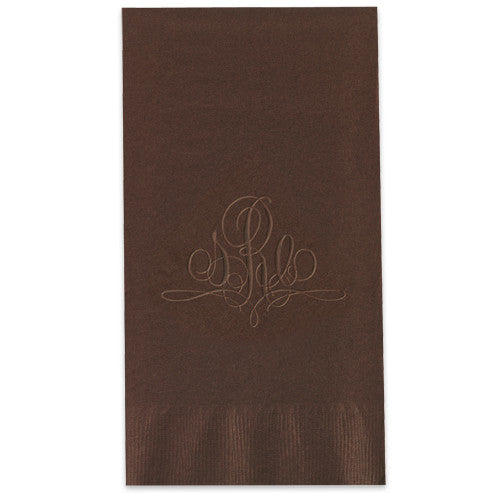 Embossed Paris Monogram Guest Towel