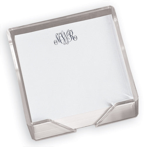 Classic Monogram Memo Square with Holder