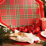 Tartan Red Tea Tray
